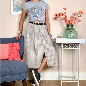 Vintage L.L.Bean Plaid Midi Skirt